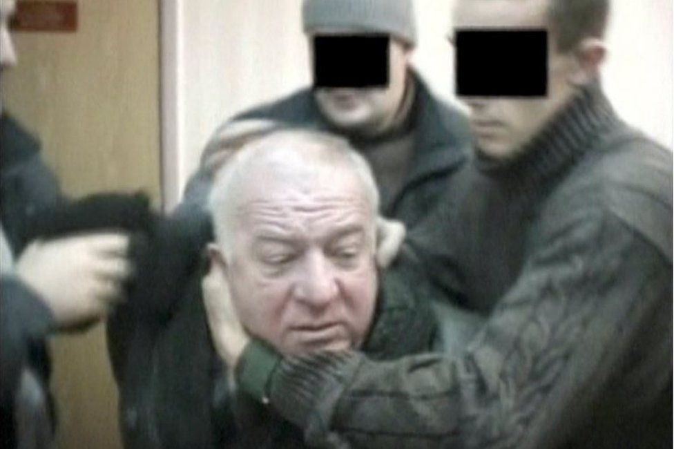 A still image taken from an undated video shows Sergei Skripal