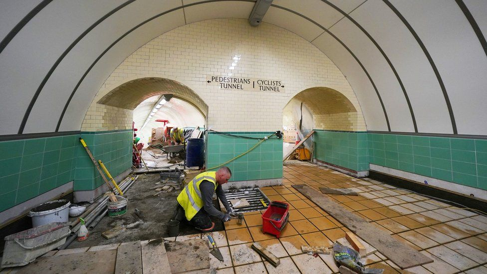 Work on Tyne pedestrian tunnel