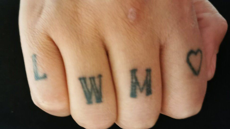 Holly's hand tattoos