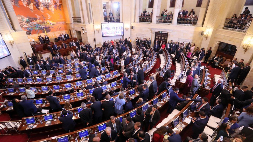 Swearing-in of Congress on 20 July 2018 in Bogota