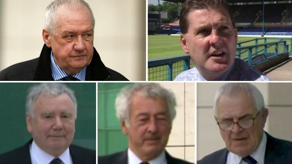 (Left to right, top to bottom) David Duckenfield, Graham Mackrell, Peter Metcalf, Alan Foster and Donald Denton