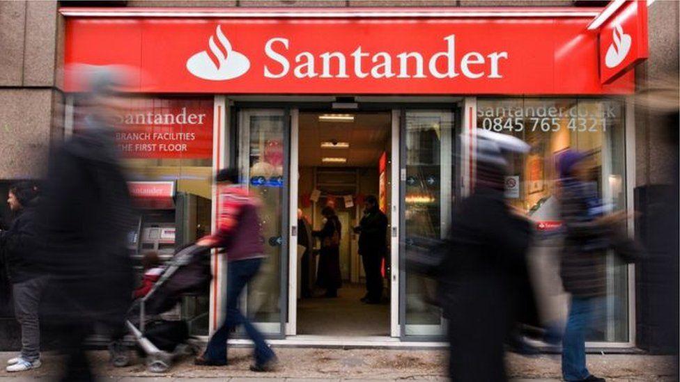 A Santander bank branch