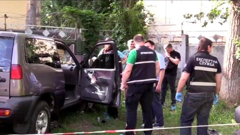 Ambushed car, 31 Oct 17