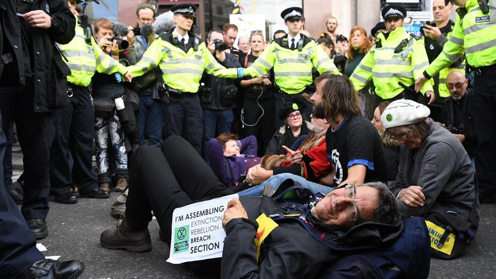 George Monbiot at the Extinction Rebellion protest