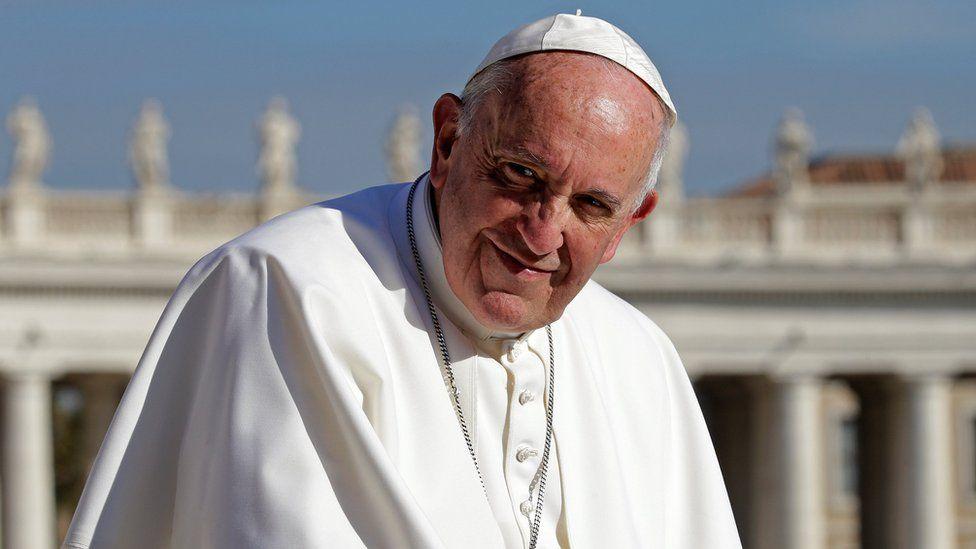 Pope Francis at the Vatican November 22, 2017.