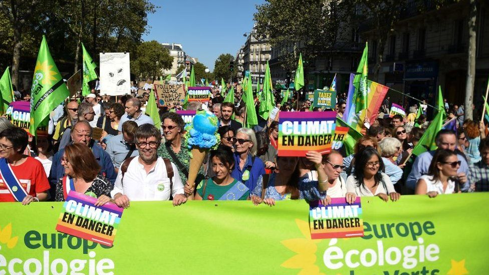 The front of the climate change march