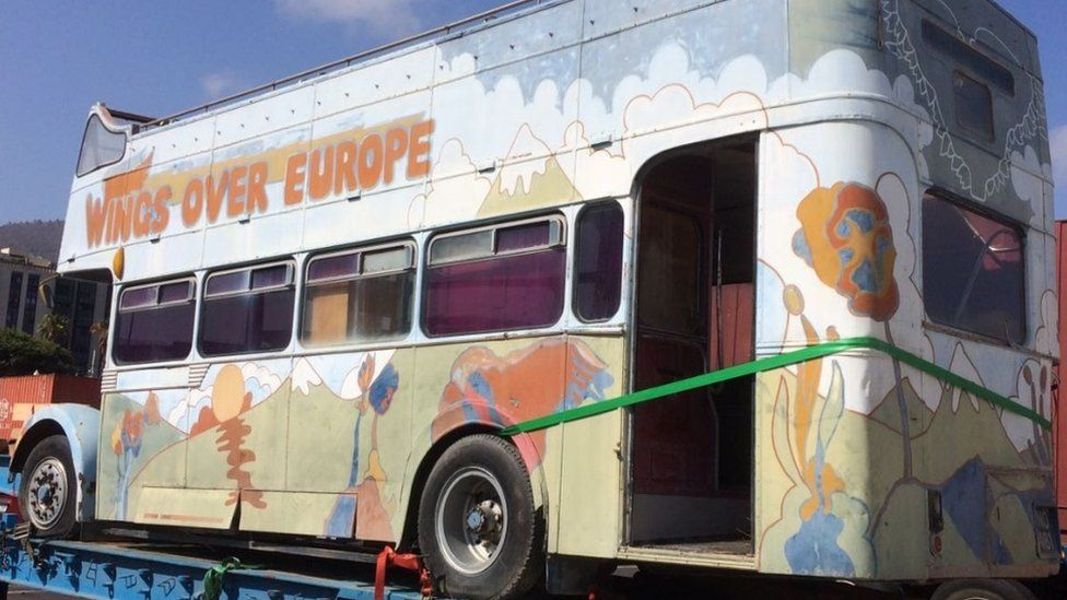Wings Over Europe tour bus