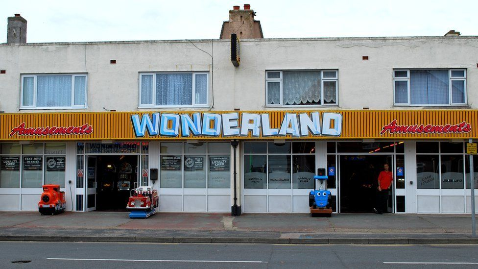 Wonderland amusements in Jaywick, Essex