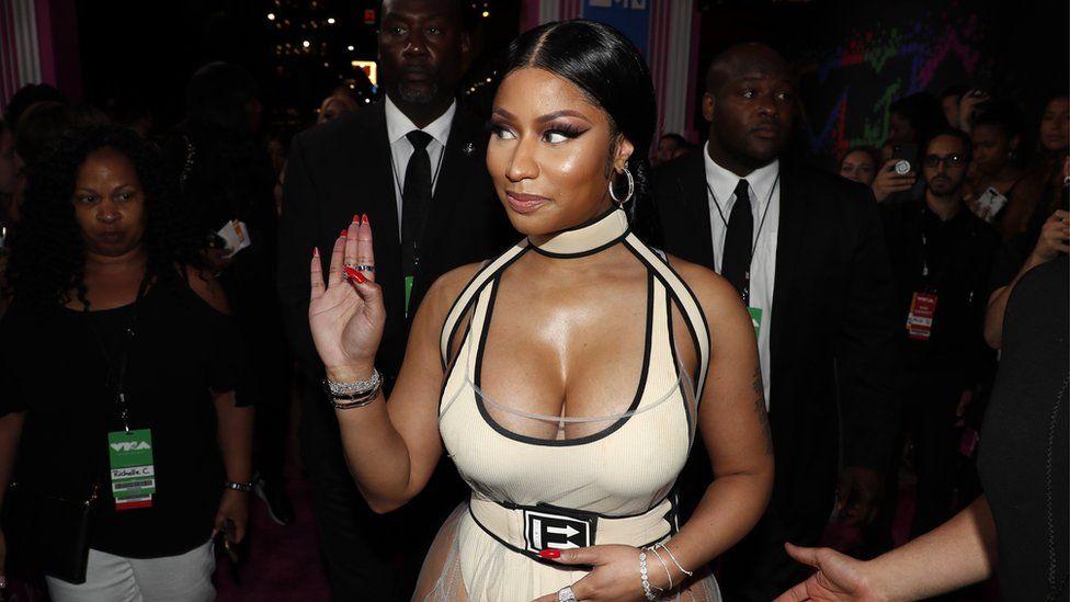 Nicki Minaj at the MTV VMAs.