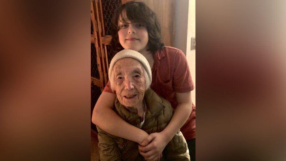 Amy Hawkins with great-grandson Sacha