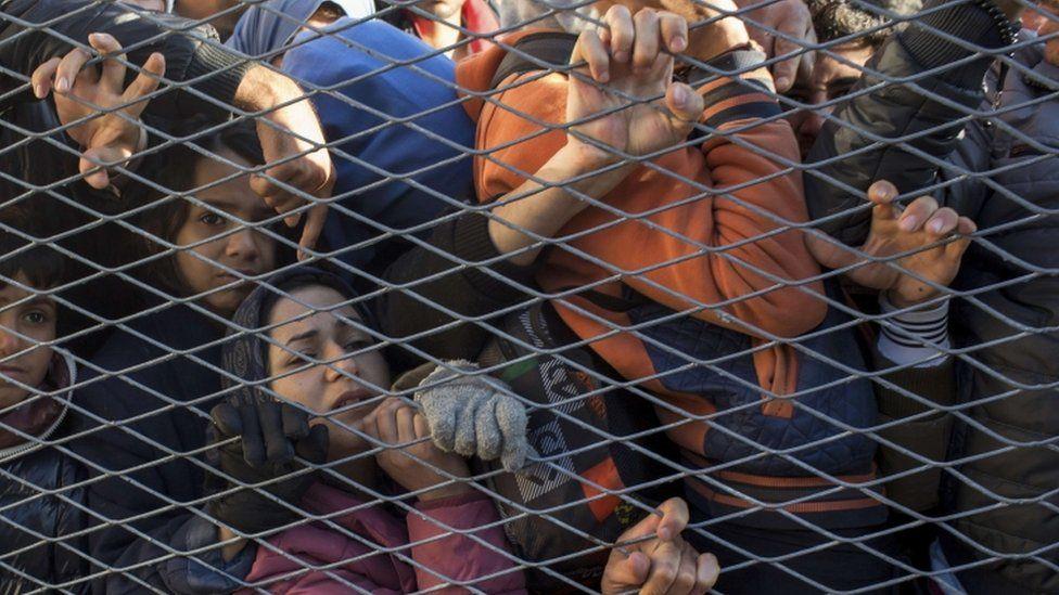 Migrants at Opatovac, Croatia, 23 Sept