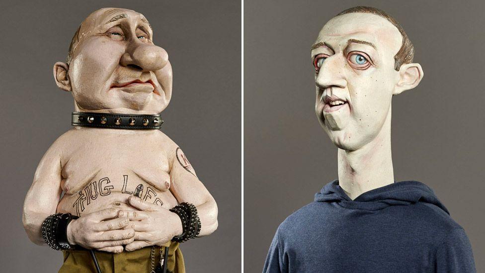 Vladimir Putin and Mark Zuckerberg