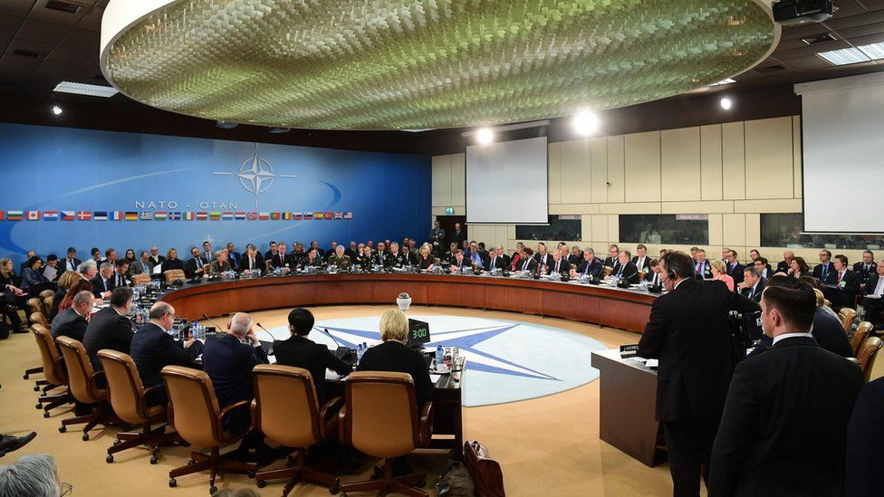 NATO Defence Ministers attend a NATO defence ministers meeting at NATO headquarters in Brussels