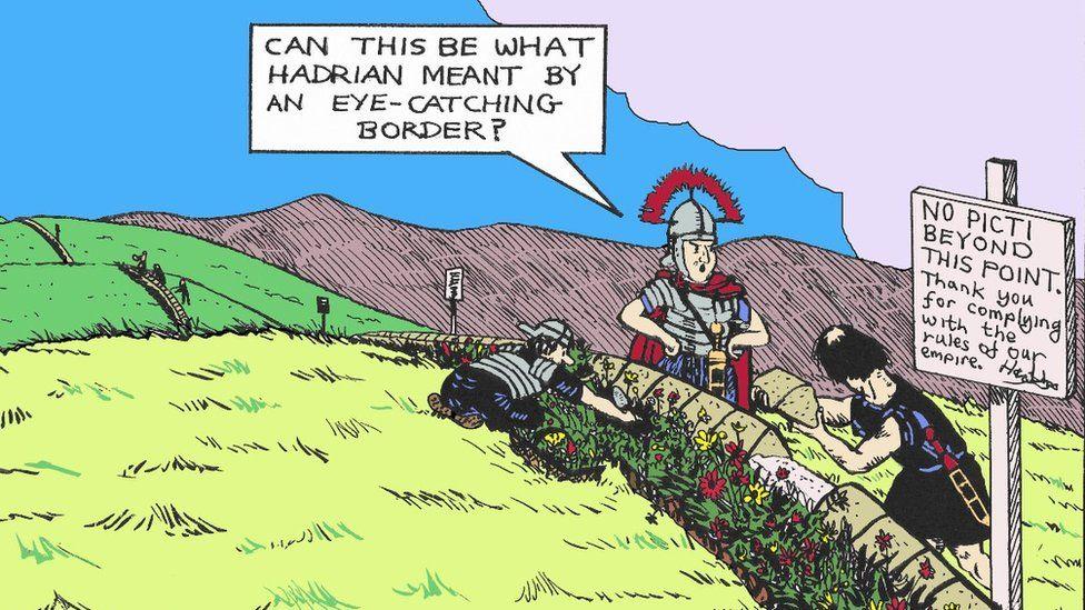 Cartoon Exhibition Pokes Fun At Life On Hadrian S Wall Bbc News
