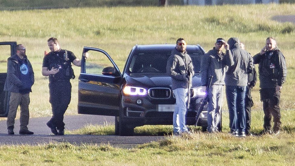 Snipers at Gatwick Airport