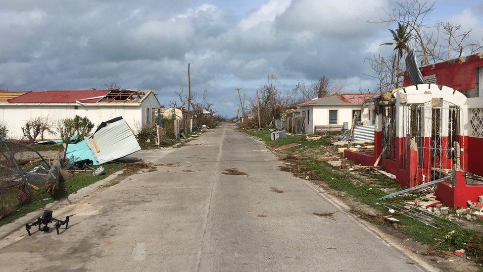 Picture of destruction in Barbuda by Laura Bicker