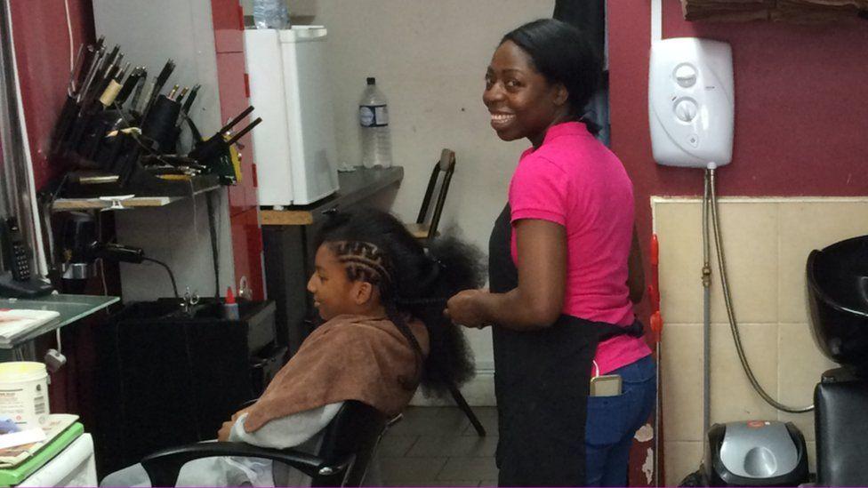 A Nigerian hairdresser in London