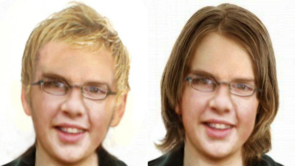 Age progressed images of Andrew Gosden