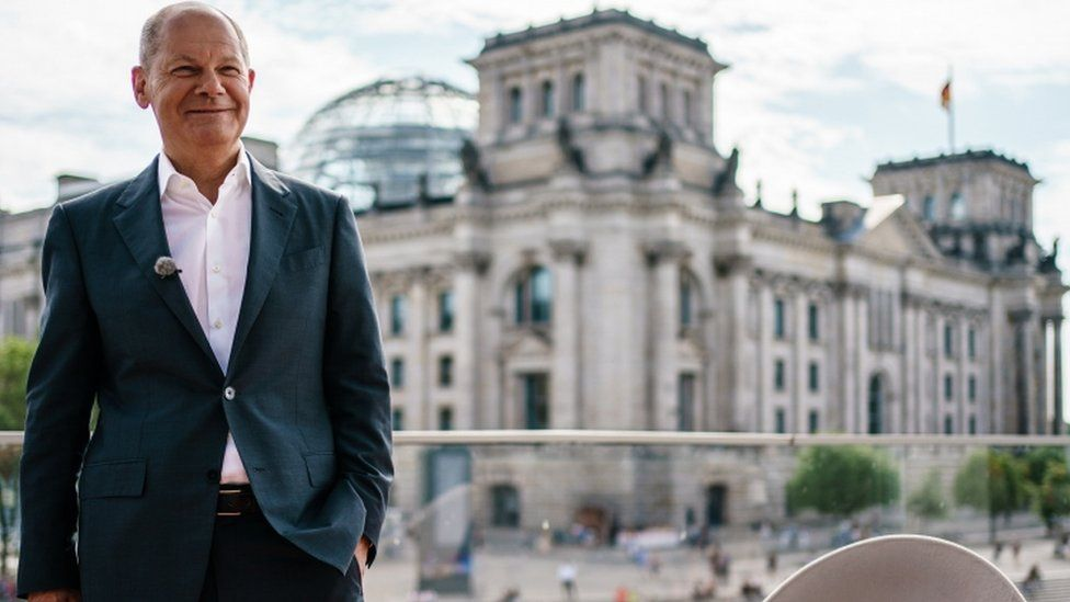 German Minister of Finance and Social Democratic Party (SPD) top candidate for the federal elections Olaf Scholz