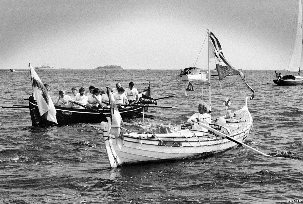 Ove Joensen in his boat
