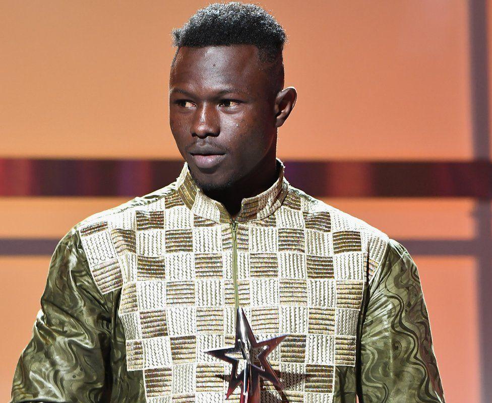 Mamadou Gassama at the BET awards