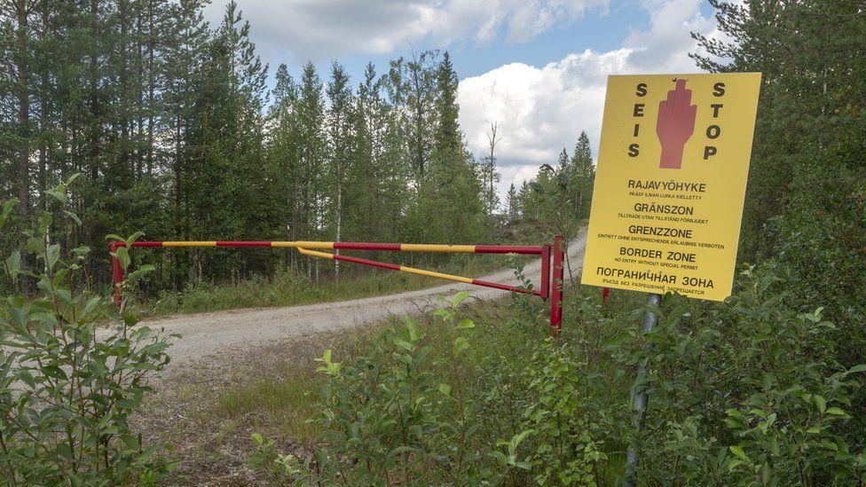 Finnish border zone near the Russian border