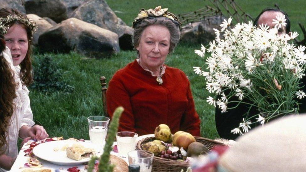 June Whitfield as Aunt Drusilla in Jude