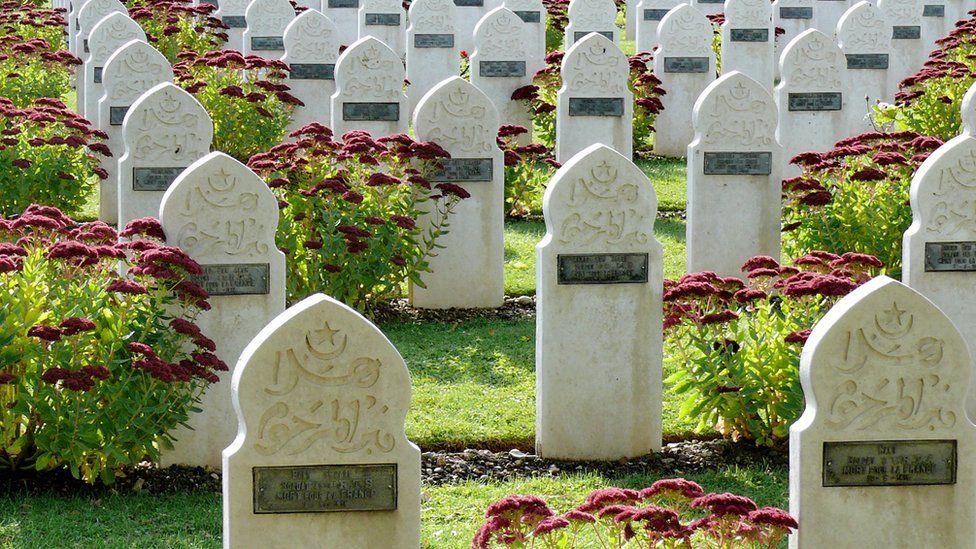 Muslim graves in French World War cemetery.