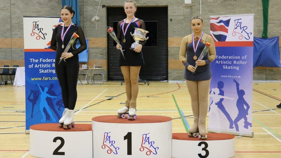 Dulcie Read winning the British Junior Championships