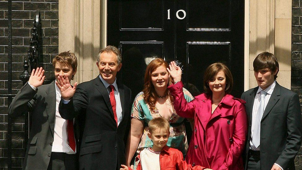 Tony Blair leaves Downing Street for the last time as prime minister