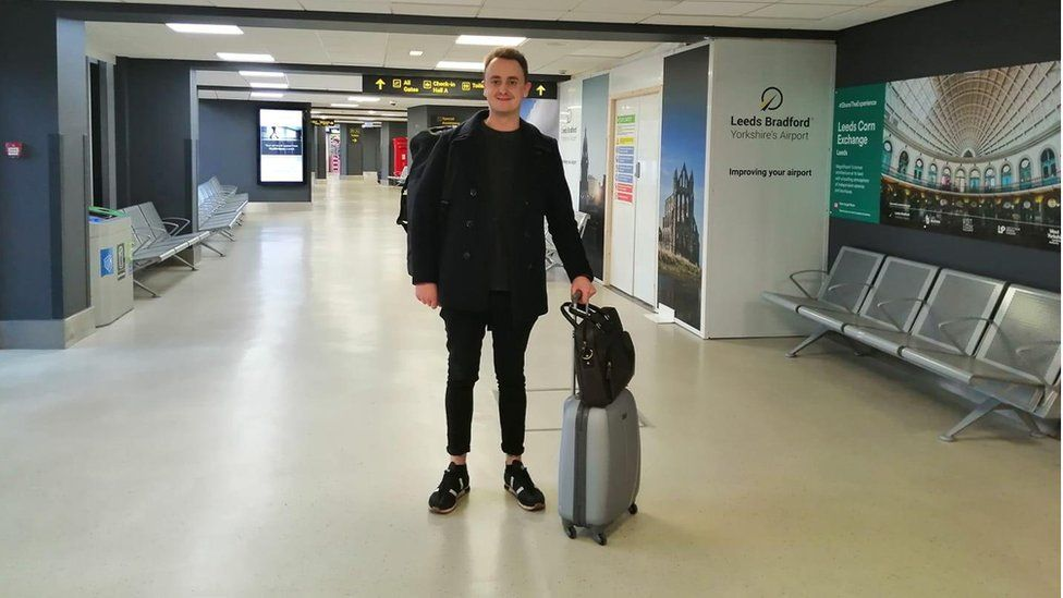 Ben at the airport