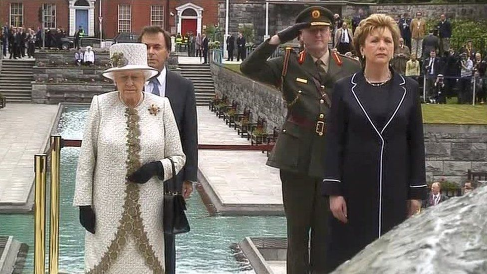 In 2011, Queen Elizabeth II and the then Irish President Mary McAleese stood side by side in Dublin's Garden of Remembrance paying tribute to those who took up arms and fought against British rule in Ireland
