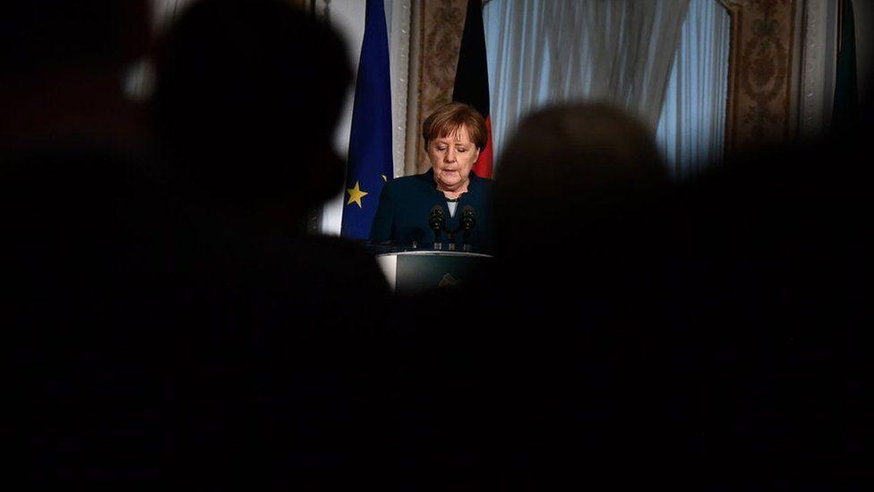 German Chancellor Angela Merkel in Dublin