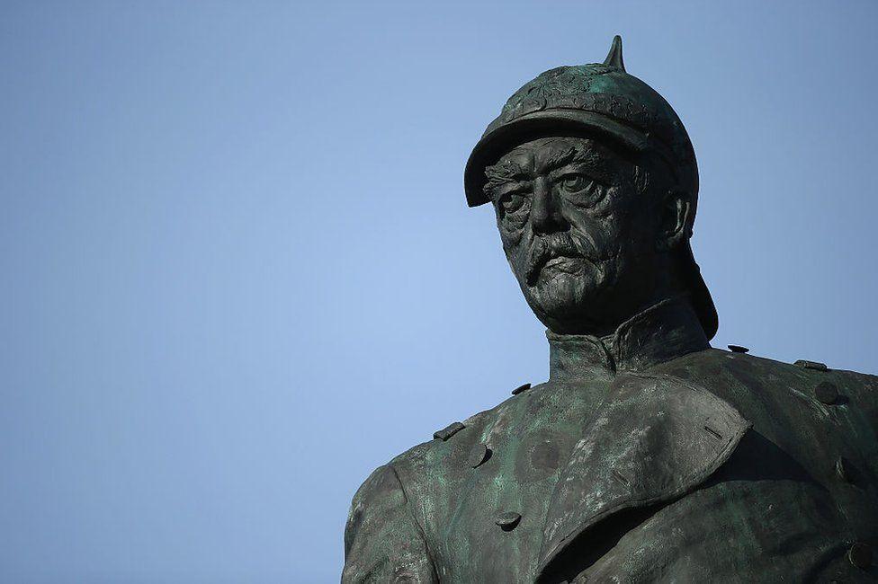 A statue of Otto Von Bismarck in Tiergarten park in Berlin, Germany
