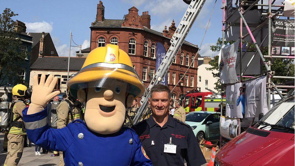 Fireman Sam with Huw Jakeway