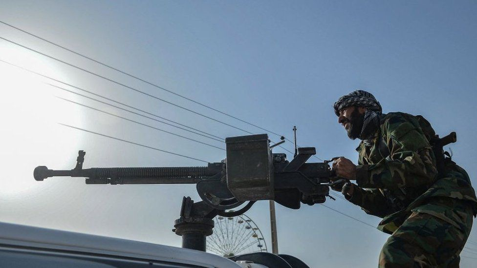 Afghan security forces in Herat