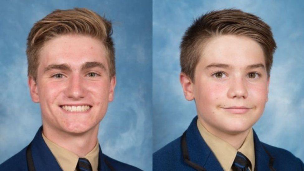 School portraits of Berend Hollander (left) and Matthew Hollander