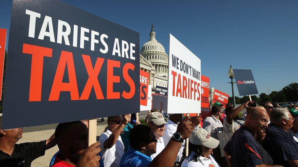 Tariff protest