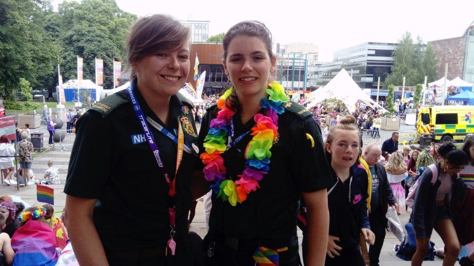 Two paramedics at the event