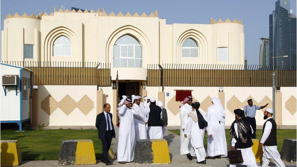 The Taliban office in Doha, Qatar