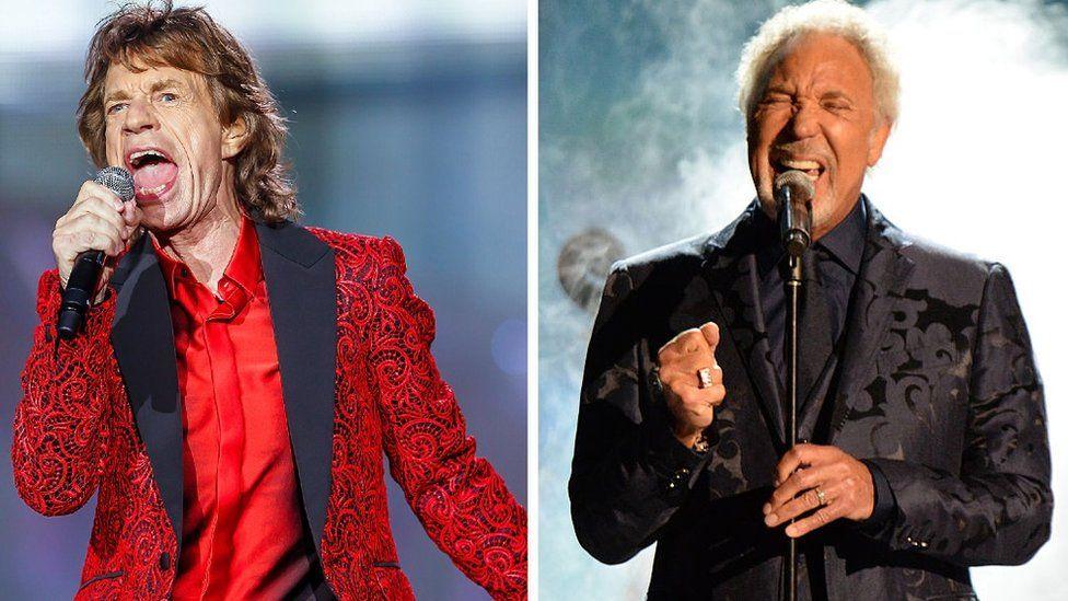 Sir Mick Jagger dan Sir Tom Jones