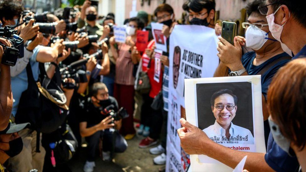 People protests the disappearance of Wanchalearm Satsaksit
