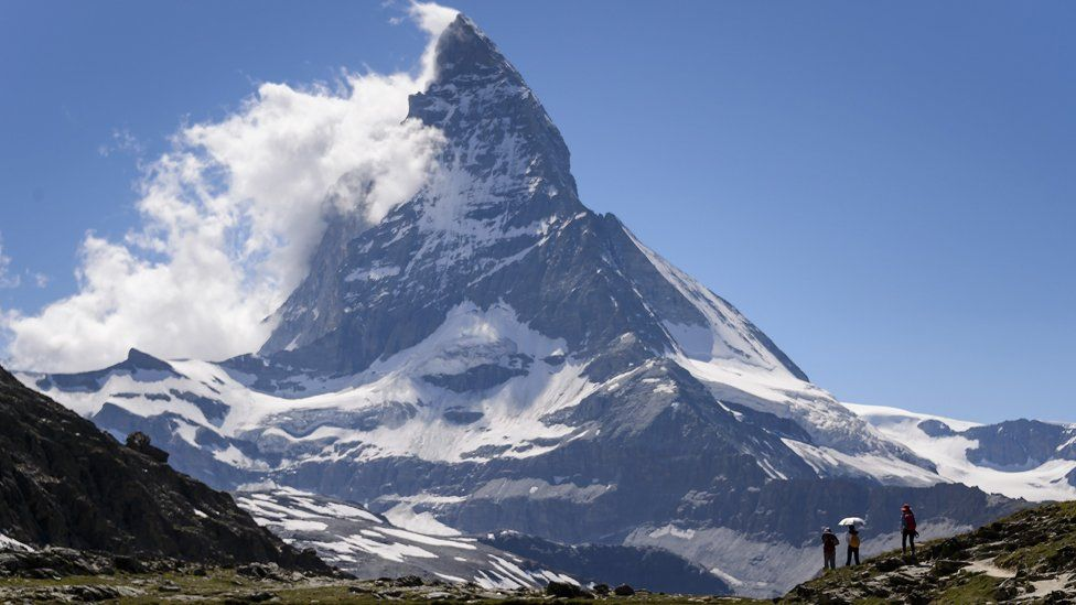 Matterhorn with cloud coming off summit