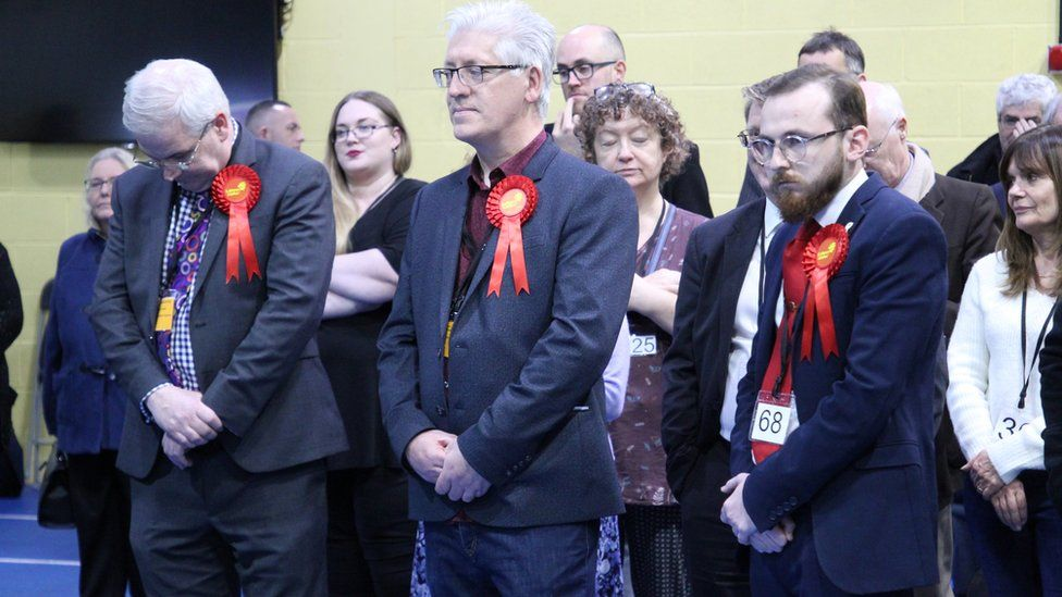 Labour supporters looking sad