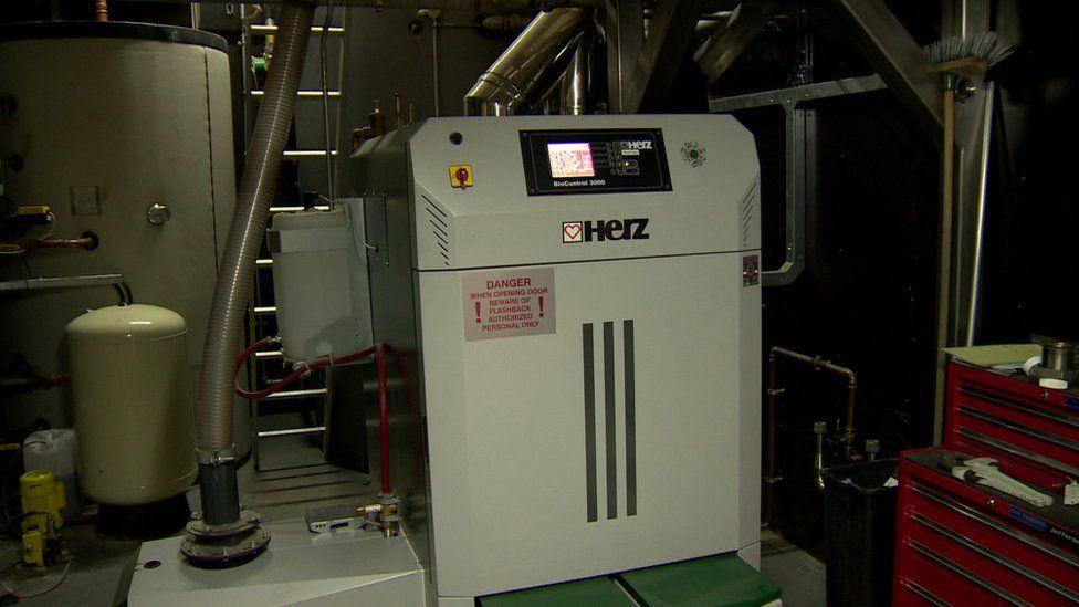 A biomass boiler