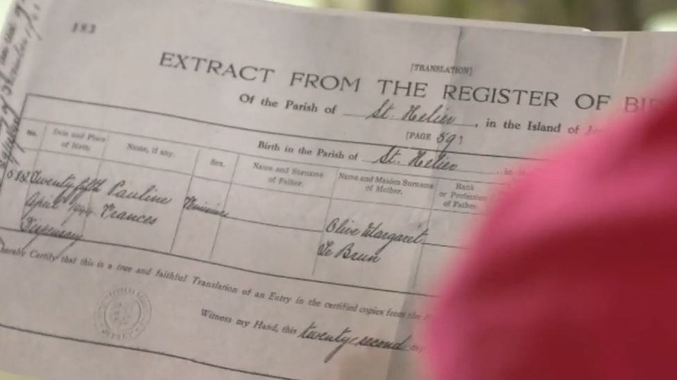Pauline Botting's birth certificate