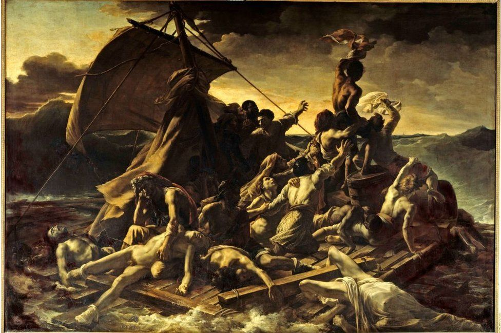 The Raft of the Medusa by Gericault features the artist's favourite model, a Haitian man called Joseph