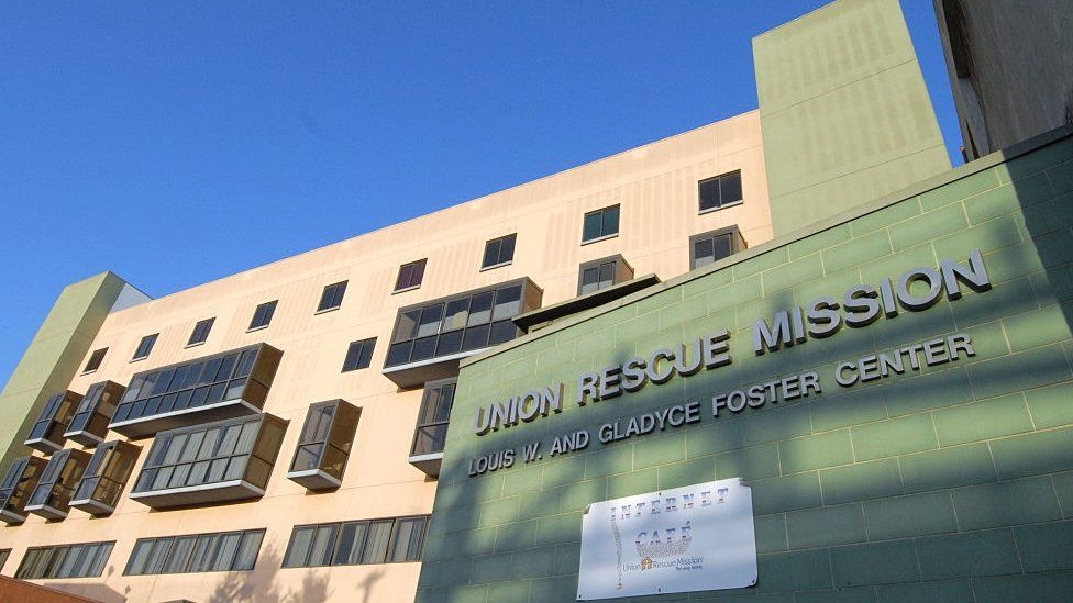 The Union Rescue Mission in Los Angeles' Skid Row