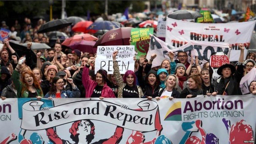 Recent years have seen demonstrations both for and against repealing the Eighth Amendment