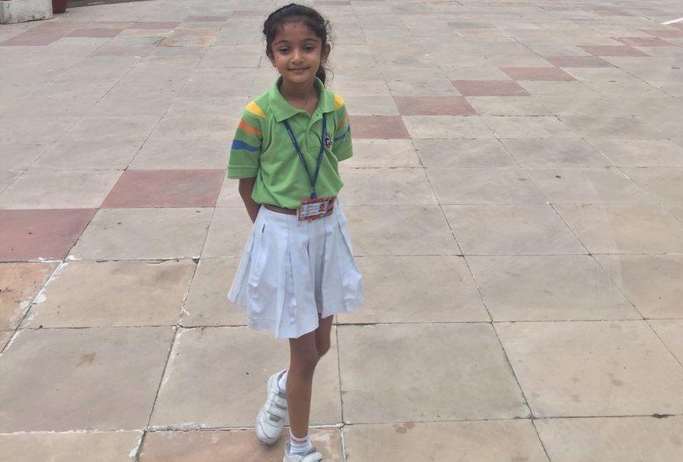 Navya Singh in school